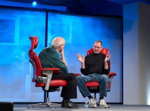 Walt Mossberg and Steve Jobs #apple #stevejobs