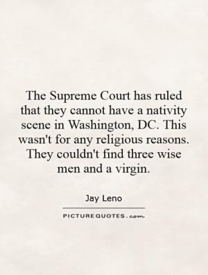 The Supreme Court has ruled that they cannot have a nativity scene in ...