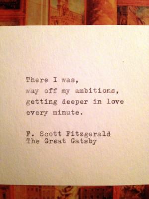 Great Gatsby Quote Typed on Typewriter via Etsy #gatsbywedding @Lauren ...