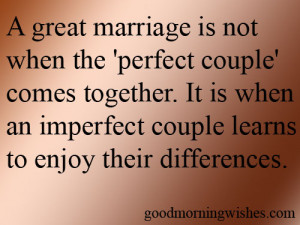 ... Perfect Couple' Comes Together. It Is When An Imperfect Couple