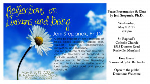 Reflections on Dreams and Being Jeni Stepanek, Ph.D