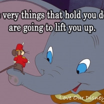 Timothy Q. Mouse Cheers Dumbo Up With This Inspiring Quote