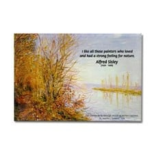 Alfred Sisley Nature Quote Rectangle Magnet for