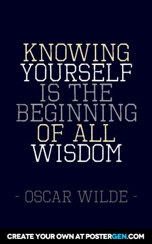Custom Knowing Yourself Poster Maker