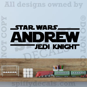 ... -Jedi-Knight-Personalized-Custom-Name-Quote-Vinyl-Wall-Decal-Sticker