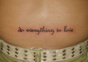 Tattoo Ideas: Quotes on Love