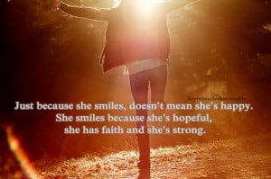 girl, life, quote, smile, strong, sunset