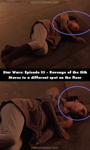 ... on the line.More Star Wars: Episode III - Revenge of the Sith mistakes
