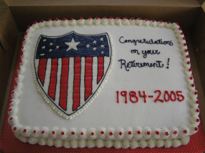 retirement cake make this for an army colonel s retirement the crest ...