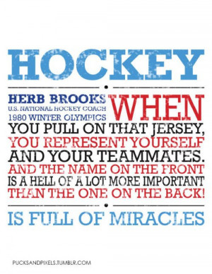 "Herb Brooks, I don't appreciate the ""hell"" part, but aside from ..."