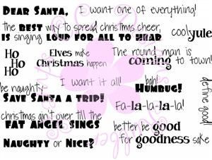 ... Rubber Stamp Logos & Sayings Collection Funny Christmas Sayings