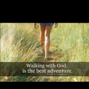 all the obstacles this world puts in your path... Walking with God ...