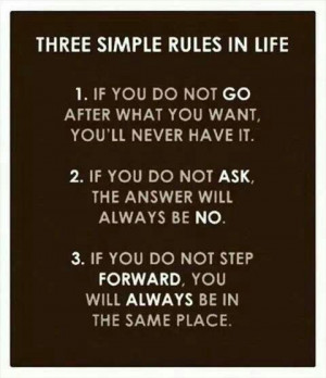 Three simple rules to remember!