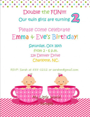Twin birthday decorations,identical twin birthday, fraternal twins ...