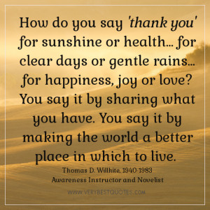 thank you quotes, inspirational quotes