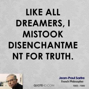 Jean-Paul Sartre Dreams Quotes