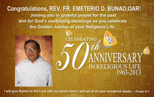 ... and fruitful years as an Augustinian Recollect religious and priest