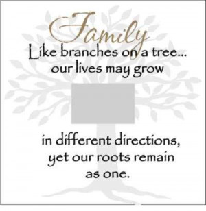 ... all grow in different directions, but our roots keep us all together