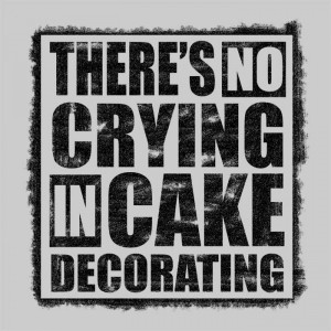 Home T-Shirts & Hoodies There's No Crying In Cake Decorating
