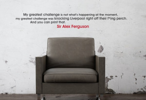 Home • Sir Alex Ferguson Perch Quote Wall Sticker