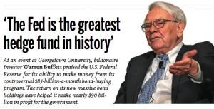 Warren Buffett: U.S. Federal Reserve is the 'biggest hedge fund in ...