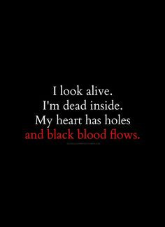 Im Cold Hearted Quotes I'm dead inside. my heart has