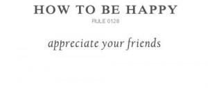 Appreciate your friends