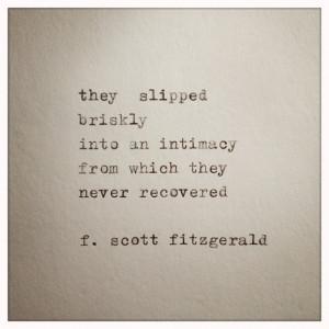 Scott Fitzgerald Love Quote Made On Typewriter, typewriter quote