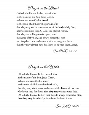 Lds Sacrament Quotes Printable sacrament prayers