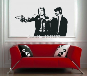 Fiction Movie Vinyl Wall Art High Quality Vinyl Wall Stickers Quotes ...