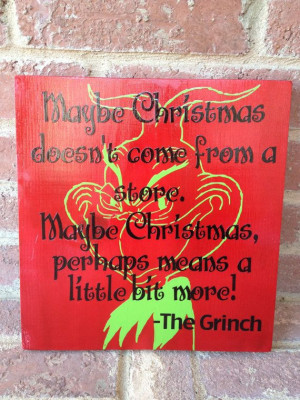 How the grinch stole Christmas quote on 12X12 board by ABlockAway, $25 ...