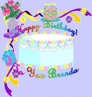 Happy Birthday Brenda Image