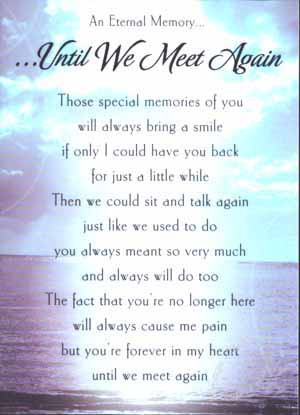 THANK YOU---I AM ALSO SORRY FOR YOUR LOSS---I MUST SAY WE BOTH WERE ...