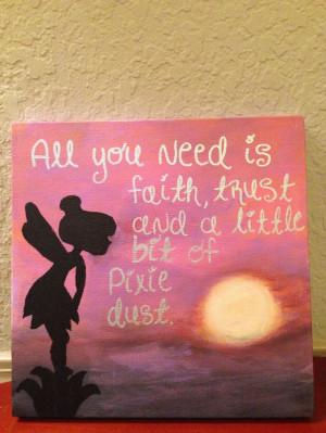 ... Quotes, Disney Diy Canvas Art Quotes, Tinkerbell Canvas, Canvas Art