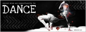 Dance Quote Facebook Cover