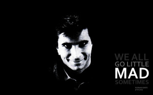 quotes psycho grayscale alfred hitchcock anthony perkins norman bates ...
