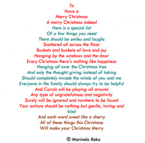 christmas poem, marinela reka