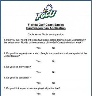 Florida Gulf Coast Eagles Bandwagon Fan Application – Image 1