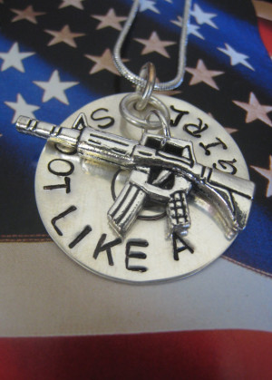 Home : Shoot Like A Girl Charm Necklace- Revolver or Shotgun