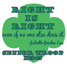 Love Juliette Gordon Low- Custom shirts for your troop $14.00-etsy ...