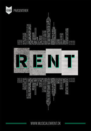 RENT musical posters