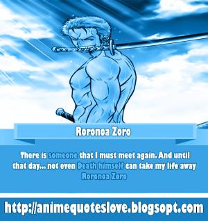 Roronoa Zoro quotes - anime quotes