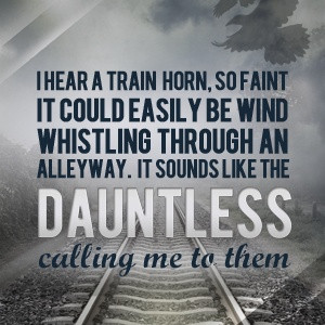 Dauntless train blows...