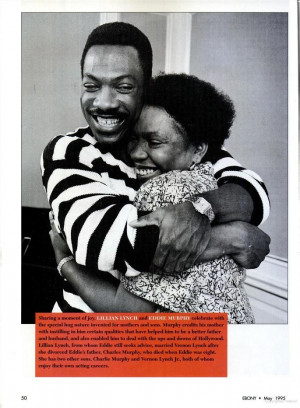 Eddie Murphy and his mother Lillian. | Eddie Murphy | Pinterest