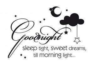 Wall Decal - Goodnight sleep tight