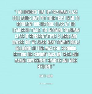Freshman Class Quotes