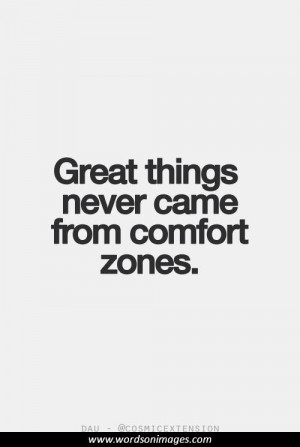 Motivational quotes comfort zone