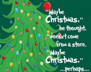 Dr Seuss The Grinch who stole Chris tmas Quote Digital Print 11 x 14 ...
