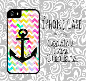 Hope Anchor and Colorful Chevron Quote by CoastalCaseCreations, $26.00
