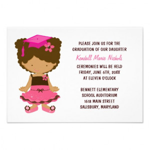 Elementary School Graduation Announcements from Zazzle.com